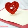 การ์ดป๊อปอัพ หัวใจสานสีแดง