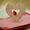 การ์ดป๊อปอัพ หัวใจสาน สีขาวดวงใหญ่