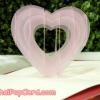 การ์ดป๊อปอัพ หัวใจสีชมพูโปร่งแสง