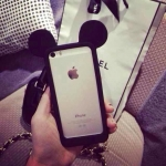 เคสไอโฟน 4/4s Bumper ขอบซิลิโคนมิกกี้เม้าส์สีดำ