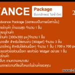 Advance Package ตกแต่งเว็บไซต์ ร้านค้าออนไลน์