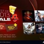 PSN Store US - Best of E3 2013 Sale: ลดราคา 20 เกม 50 - 60 %