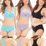 ✿ VINECO Japan-Korea รุ่นหลังทอม ✿ ยกทรง+กางเกงใน สปอร์ตบรารุ่นฮิตนักกีฬา ผ้าทอรังผึ้ง ระบายกาศ นุ่ม ยืดหยุ่น กระชับ