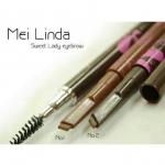ดินสอเขียนคิ้วWaterProof กันน้ำ Mei linda #เบอร์ 1 น้ำตาลแดง