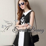 Ruby fit and curve black & white dress