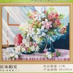 ภาพวาดแคนวาส แจกันดอกไม้ can19