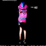 กระเป๋าเป้หลังใบใหญ่ แบรนด์ MM แฟชั่นฮาราจูกุ วัสดุผ้าใบซับโพลีเอสเตอร์