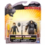 DreamWorks Dragons: How to Train Your Dragon 2 - Viking Warrior Two Pack - Hiccup vs Drago