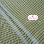 ผ้าทอญี่ปุ่น 1/4เมตร ลายตาราง สีน้ำตาล เหลือง ขาว สลับสีอย่างลงตัว