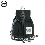 กระเป๋าเป้หลังใบใหญ่ แบรนด์ MM (MCJH & TWJ) แฟชั่นฮาราจูกุ วัสดุผ้าใบซับโพลีเอสเตอร์