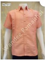 เสื้อไหมญี่ปุ่นชาย ซาฟารี (สีโอรสส้ม) ซ17S