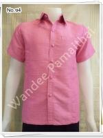 เสื้อไหมญี่ปุ่นชาย ซาฟารี (สีชมพู2) ซ4S
