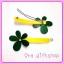 กิ๊บดอกไม้สีเขียว-เหลือง thumbnail 1