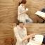 เสื้อแฟชั่นเกาหลี ผ้าชีฟองเบาสบายปักลูกไม้ลายเก๋ๆ เอาไว้ใส่กันแดดช่วงนี้ ก็เข้าดี thumbnail 10