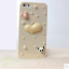 เคสไอโฟน 4/4s กรอบสีเบจประดับมุก หัวใจกระต่ายหมีแพนด้า thumbnail 1
