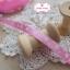 ริบบิ้นผ้าสีชมพู ลายดาวสีขาว กว้าง 1 ซม. thumbnail 2