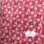 ผ้าคอตตอนไทย 100% 1/4 ม.(50x55ซม.) พื้นสีแดง ลายดอกไม้สีขาว thumbnail 3
