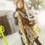 ผ้าพันคอชีฟอง ลายดาวสีเขียว ( รหัส P27 ) thumbnail 1