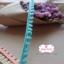 ลูกไม้แต่งปอมปอมเล็กสีเขียว กว้าง 0.9 ซ.ม. แบ่งขายเป็นหลา thumbnail 2