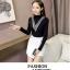 เสื้อแฟชั่นเกาหลีสวยๆ คอเต่าผ้านิ่ม คาดลายเหมือนคอวี ทั้ง 2 ด้าน ดูเก๋จริงๆ thumbnail 14