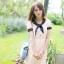 เดรสสั้นเกาหลี Mayuki ปกเสื้อสไตล์ผูกโบว์ thumbnail 13