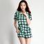 เดรสเกาหลีแบบขากางเกง สีสันสดใสมาในแบบลายสก๊อต สวยใส ไม่ตกเทรนด์ thumbnail 3