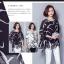 เสื้อแฟชั่น ผ้าชีฟองสีพื้นขาว-ดำ กับลวดลายกราฟฟิค ขับให้ตัวเสื้อดูมีสีสัน thumbnail 5
