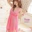 sx204 ชุดนอนเซ็กซี่ สีชมพูสด ผ้ามันนิ่ม สายปรับได้คะ สวยหวานคะ ฟรีไซส์ thumbnail 3