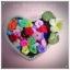 กระดุมดอกไม้ คละสี ขนาด 1.5 ซม. จำนวน 12เม็ด(1โหล) thumbnail 2