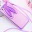 Case iphone 6 Plus / 6s Plus (TPU Case) หูกระต่ายประดับเพชรสีม่วงพร้อมสายคล้องคอ thumbnail 1