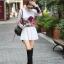เดรสสั้นเกาหลี แขนยาว ลายดอกไม้สวยหวาน เข้ากับชุดสีพื้นได้อย่างลงตัว thumbnail 10