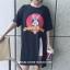 เสื้อยืดแฟชั่นทรงยาว แหวกแนวด้วยการผ่าหน้า ไม่เหมือนใคร สกรีนลายการ์ตูนยอดฮิต thumbnail 8