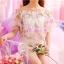 เสื้อแฟชั่นสตรี ตัดเย็บด้วยชีฟองลายดอกไม้ เป็นเกาะอกแสนหวาน thumbnail 11
