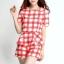 เดรสเกาหลีแบบขากางเกง สีสันสดใสมาในแบบลายสก๊อต สวยใส ไม่ตกเทรนด์ thumbnail 5