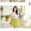 เดรสแฟชั่นสีสันแบบทูโทน เสื้อตัวบนเก๋ๆ ตัดทูโทนกับชายกระโปรงสีสันสดใส thumbnail 6