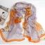 ผ้าพันคอผ้าPolyester+ผ้าไหม ลาย Orange Dot ( รหัส P108 ) thumbnail 1