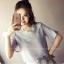 เสื้อแฟชั่นเกาหลี แต่คอเสื้อด้วยดอกไม้ปักสีขาว เต็มคอเสื้อ ดูดี ใส่ได้กันยาวๆ เลยคร่าา thumbnail 7