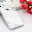 เคสไอโฟน 4/4s กรอบโปร่งใสประดับเพชรและดอกกุหลาบขาว thumbnail 1