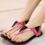 รองเท้าแตะแฟชั่น มีสายรัดข้อเท้า สีสันทูโทนตัดกันแบบลงตัว โดดเด่นสะดุดตา thumbnail 1