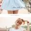 เดรสแฟชั่นสุภาพสตรี ตัดเย็บเสื้อแบบจับจีบ แขนเสื้อปล่อยระบายด้วยผ้าชีฟอง thumbnail 8