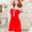 xm012 ชุดแซนตี้ ชุดซานต้าสาว แบบแซก สายเดี่ยว พร้อมหมวก น่ารักคะ thumbnail 4
