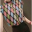 เสื้อแฟชั่นแขนกุด สีสันสวยงาม ลายข้าวหลามตัด สีสันสไตล์ colorful thumbnail 4