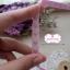 ริบบิ้นผ้าแถบ สีชมพู ลายหัวใจสีม่วง กว้าง 1 ซ.ม. แบ่งขายเป็นหลา thumbnail 5