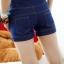 เอี๊ยมกางเกงทรงเอวสูง ครึ่งตัว สีสวย มาพร้อมดีไซน์ เชือกร้อยเหมือนหูรองเท้า น่ารักฝุดๆ thumbnail 7