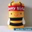 สายผ้าคาด ผ้าห่มม้วนตุ๊กตา วันเกิด (Happy Birthday) สีแดง ## พร้อมส่งค่ะ ## thumbnail 2