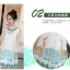 ชุดเดรสแฟชั่น แขนกุด สีขาวตัดกับลายสีเขียว ดูสวยเก๋แบบธรรมชาติจริงๆ คร่าา thumbnail 9