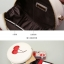 กระเป๋าแฟชั่น ห่วงโซ่ลายเชอร์รี่ ขาวครีมน่ารักๆ thumbnail 9
