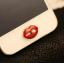 ปุ่มโฮมไอโฟนริมฝีปากสีแดงคาบมุก thumbnail 1