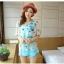 เสื้อชีฟองพิมพ์ลายผีเสื้อสุดสวย สีหวานโทรพาสเทล เย็นสบายตามแบบผ้าชีฟอง thumbnail 12