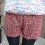 หใม่กางเกงขาสั้นแฟชั่นเกาหลี ตัดชายขาแบบคลื่น ผสมกับลวดลายสาน ใส่เข้ากับเสื้อตัวไหนก็ขึ้น thumbnail 14